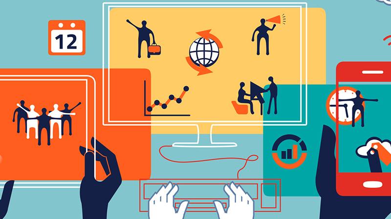 Kép: digitális kompetenciafejlesztést jelölő rajzolt minták