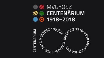 centenárium fekete fehér logo