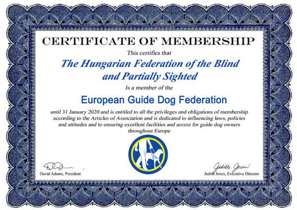 Membership-Certificate-Hungary emléklap