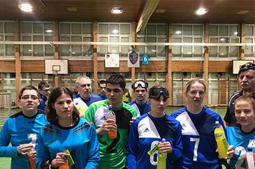 A Csörgőlabda Magyar Bajnoki fordulón készült csoport kép