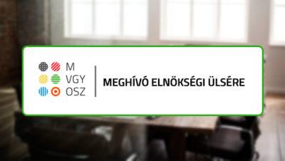 a meghívó szövege a mvgyosz logójával látható a háttérben egy asztal,üres székekkel