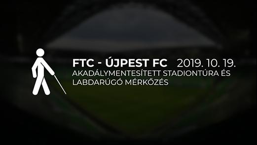 Akadálymentesített stadiontúra és labdarúgó mérkőzés