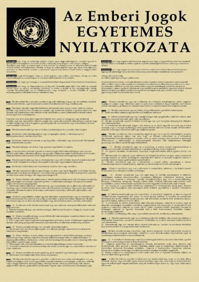 Az Emberi Jogok Egyetemes Nyilatkozata